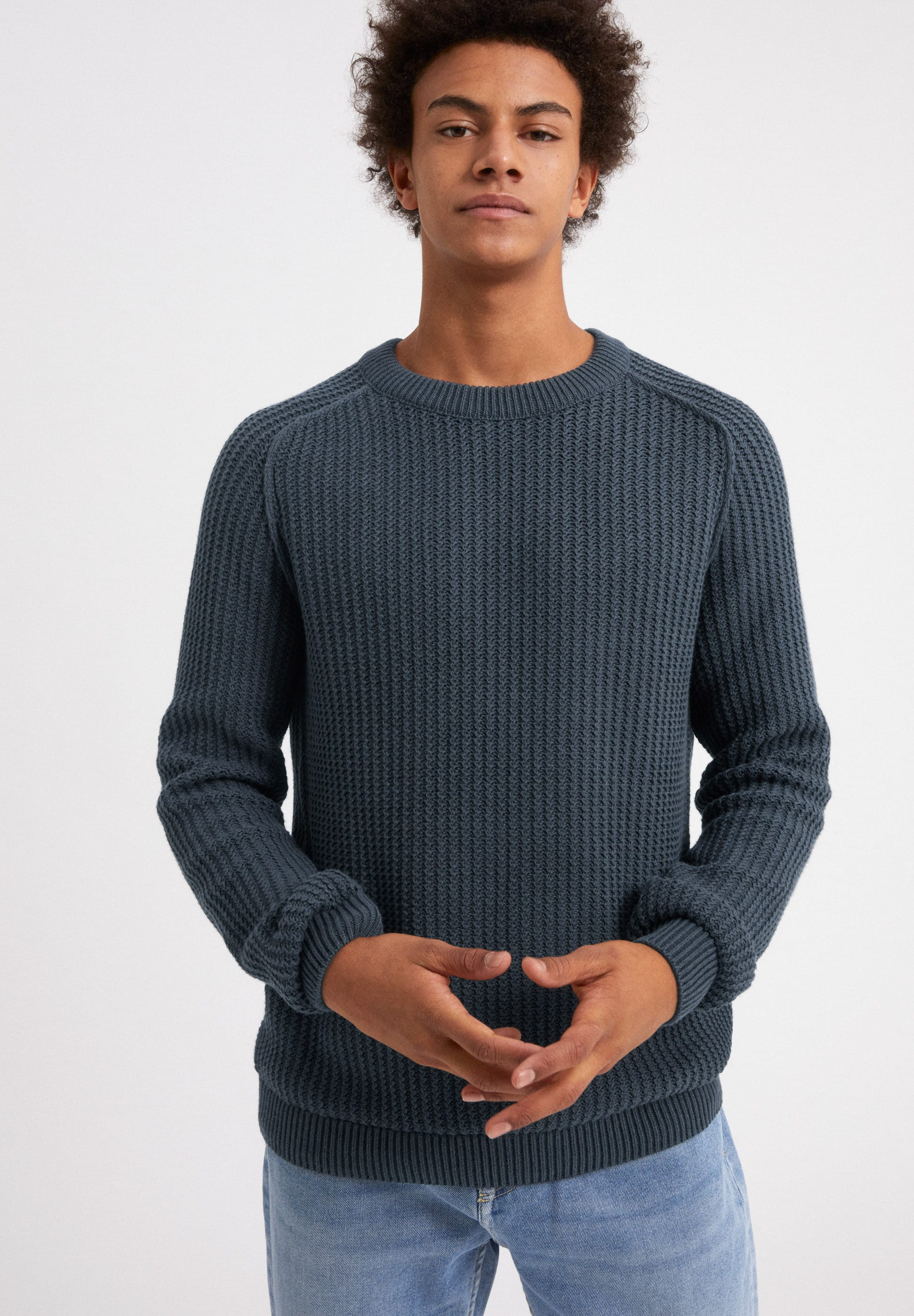 DAAMO EARTHCOLORS® Sweater made of Organic Cotton Linen Mix