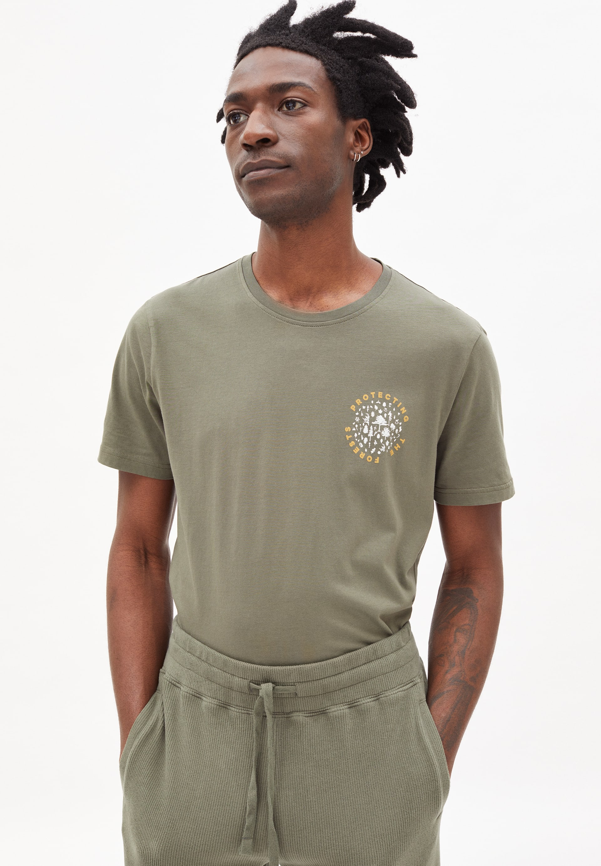 JAAMES WOODS T-shirt en coton biologique