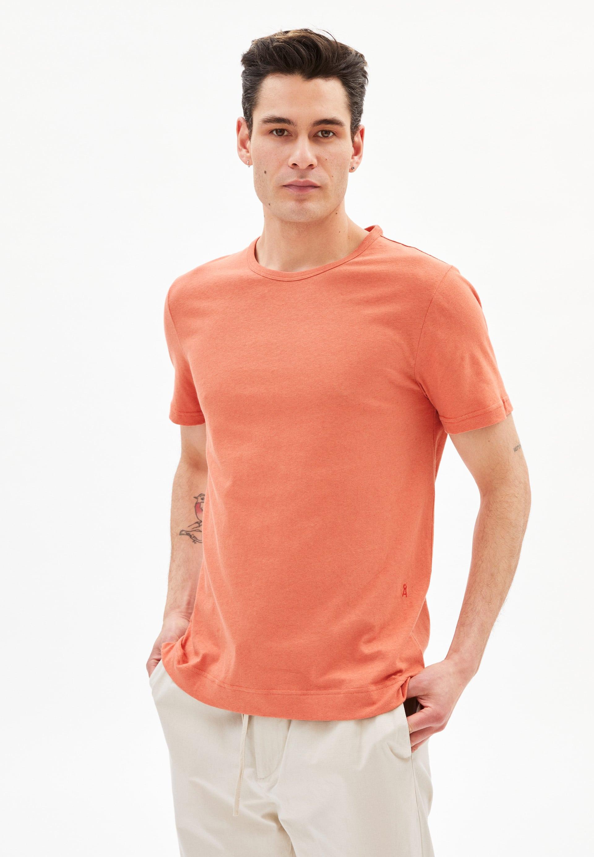 AANTONIO LINEN T-shirt van mix van biologisch katoen en linnen