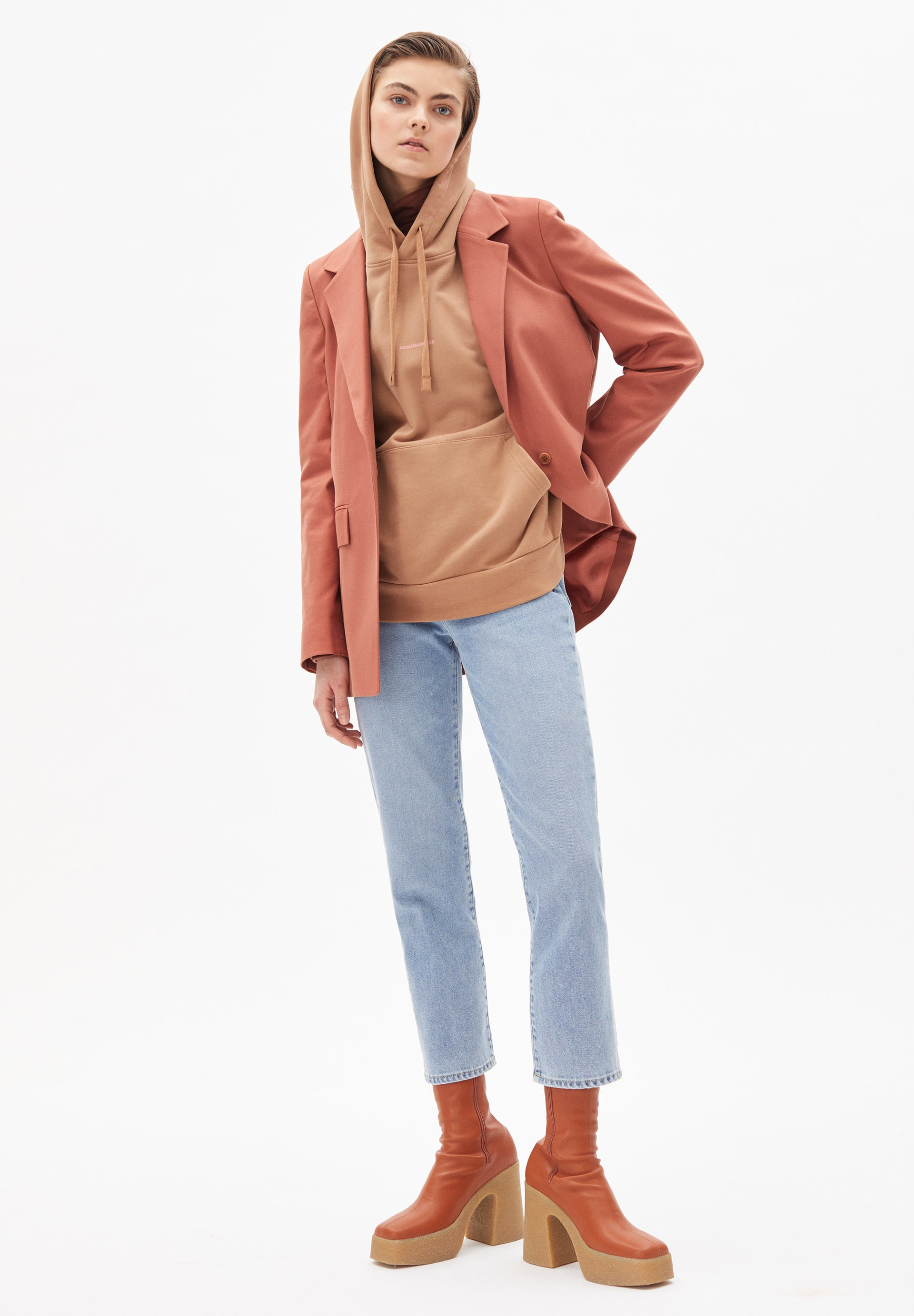 ANDREAA SOLID Blazer made of Organic Cotton Mix