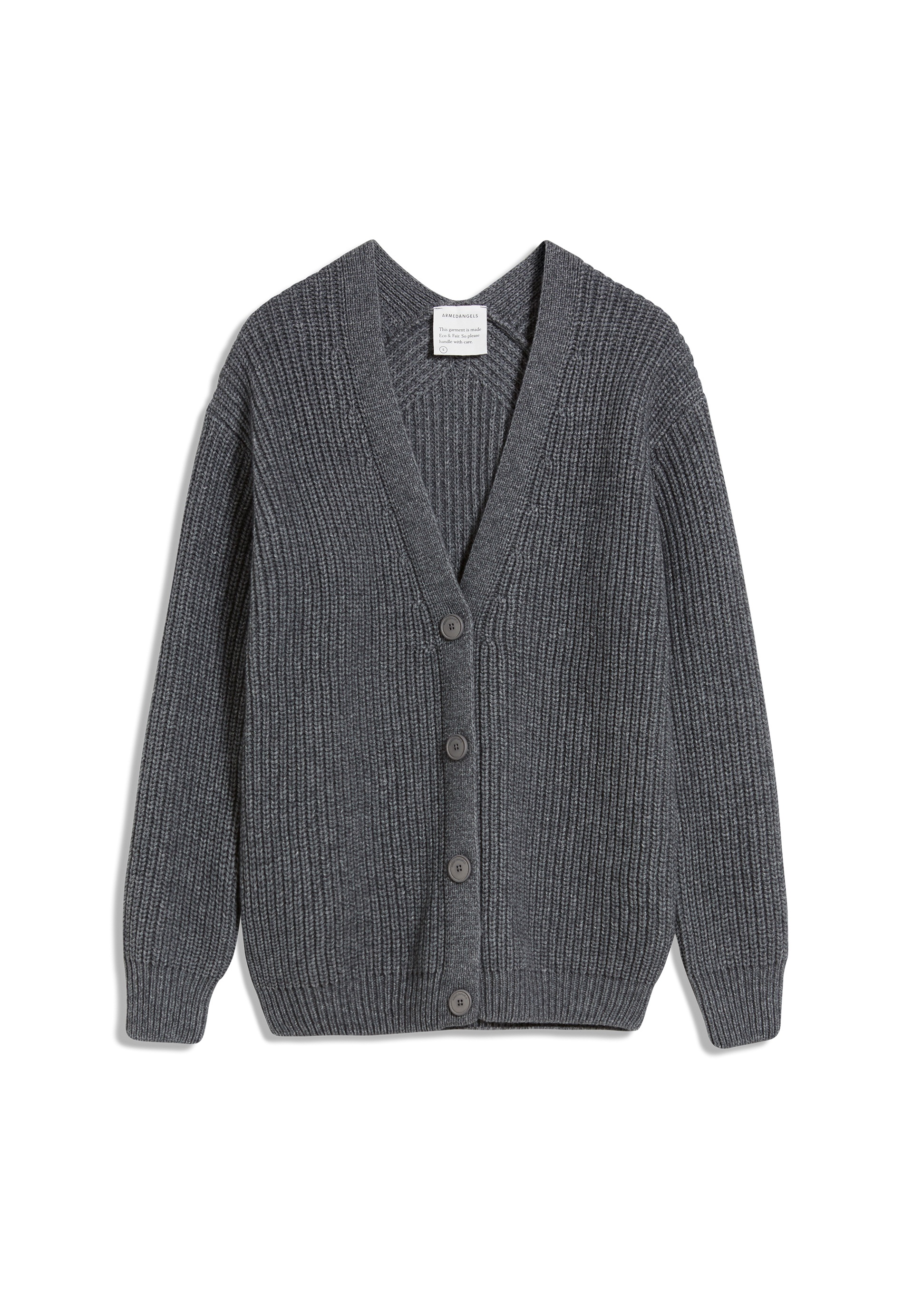 MAIYAA Cardigan made of Organic Wool Mix