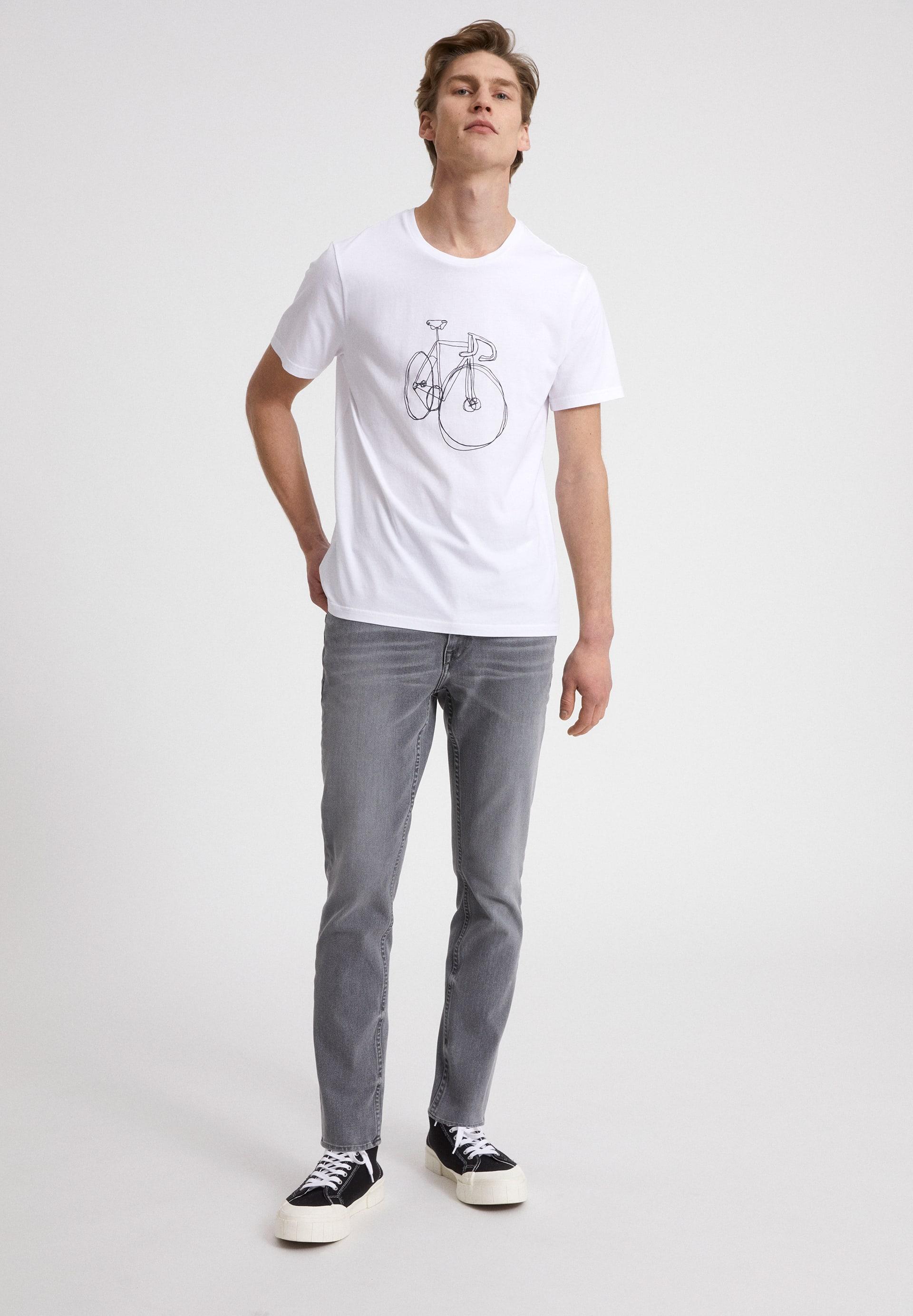 JAAMES SCRIBBLE BIKE T-shirt en coton biologique
