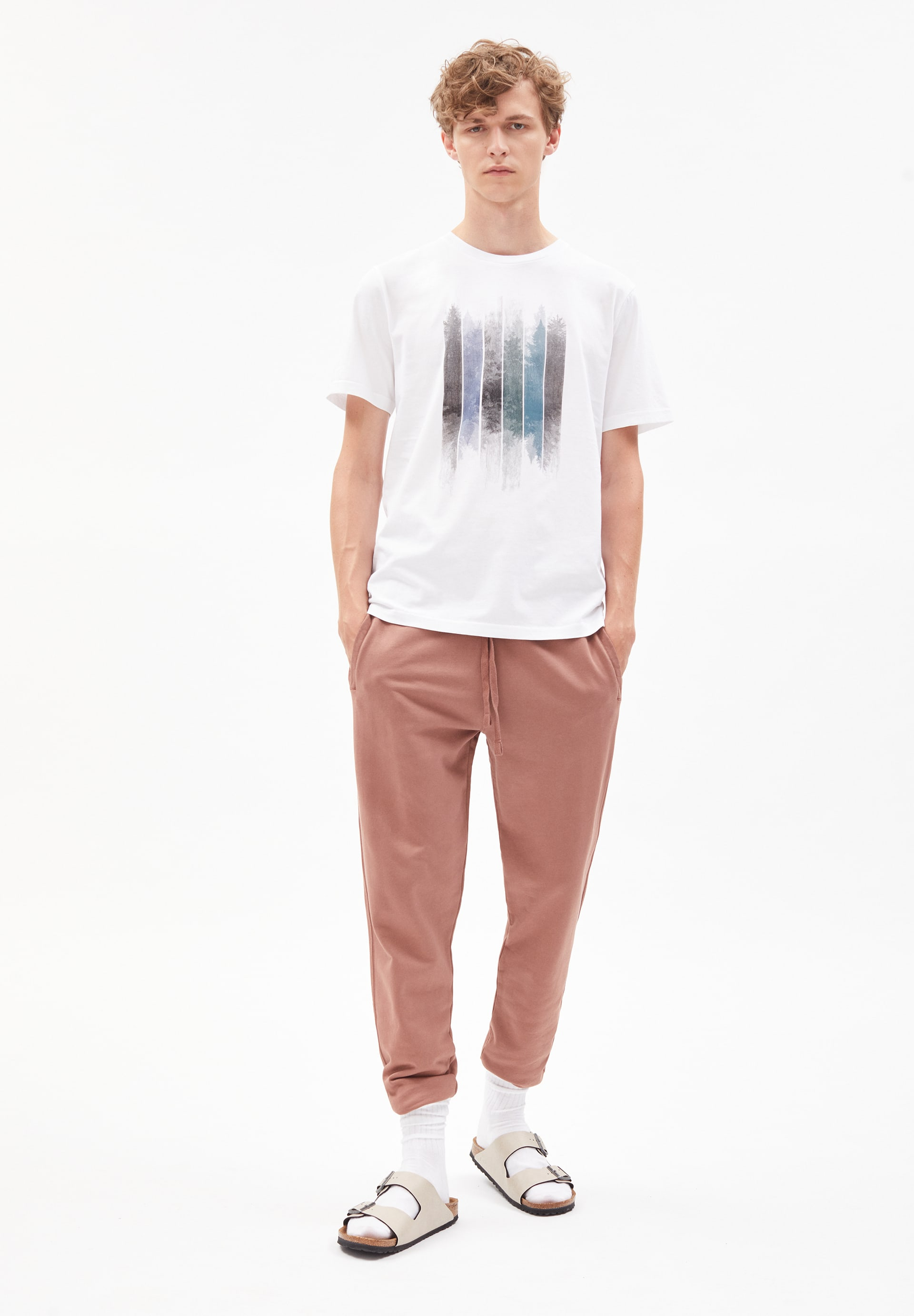 JAAMES PATCHWORK TREES T-Shirt made of Organic Cotton