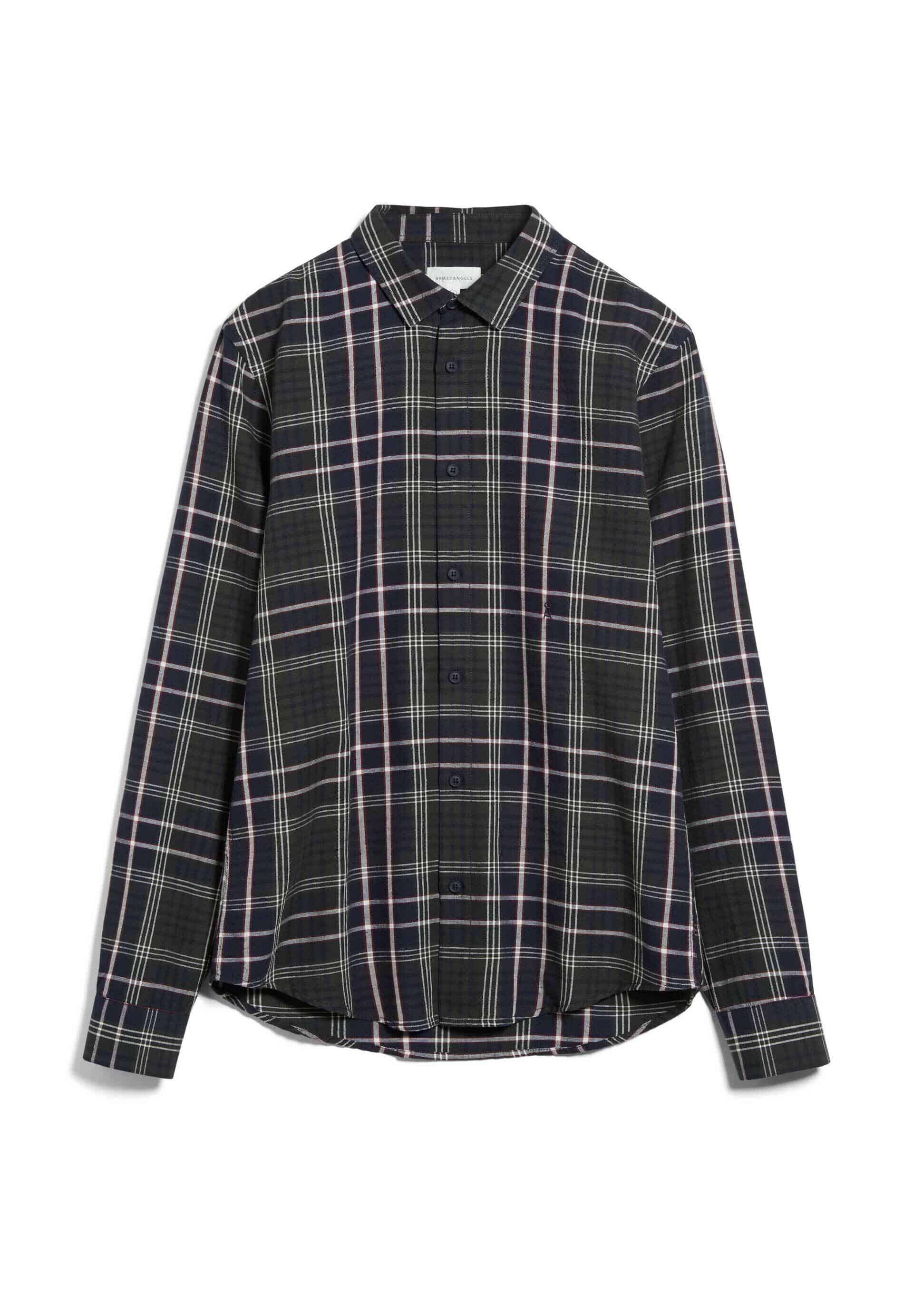 LINAAS BOLD CHECK Hemd aus Bio-Baumwoll-Leinen Mix
