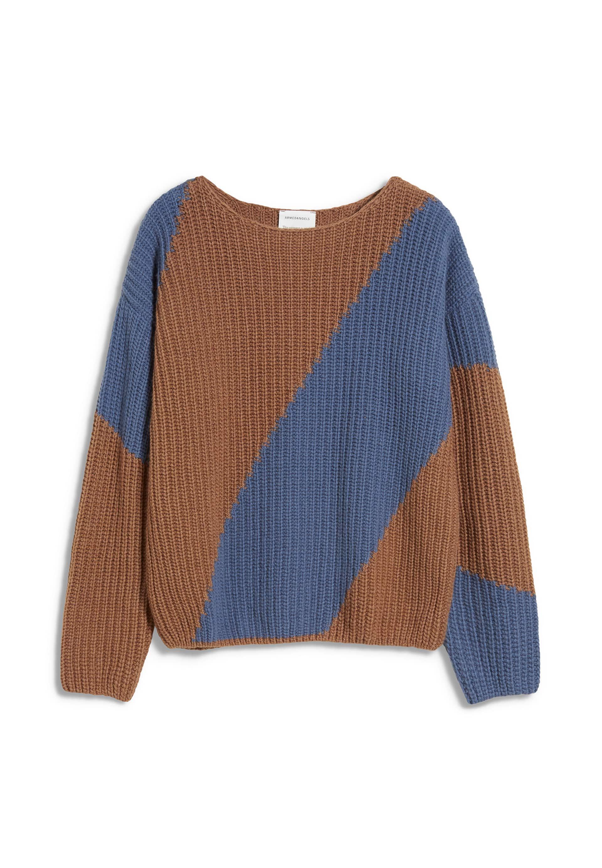 SAADIE STRIPED Pullover aus Bio-Woll Mix