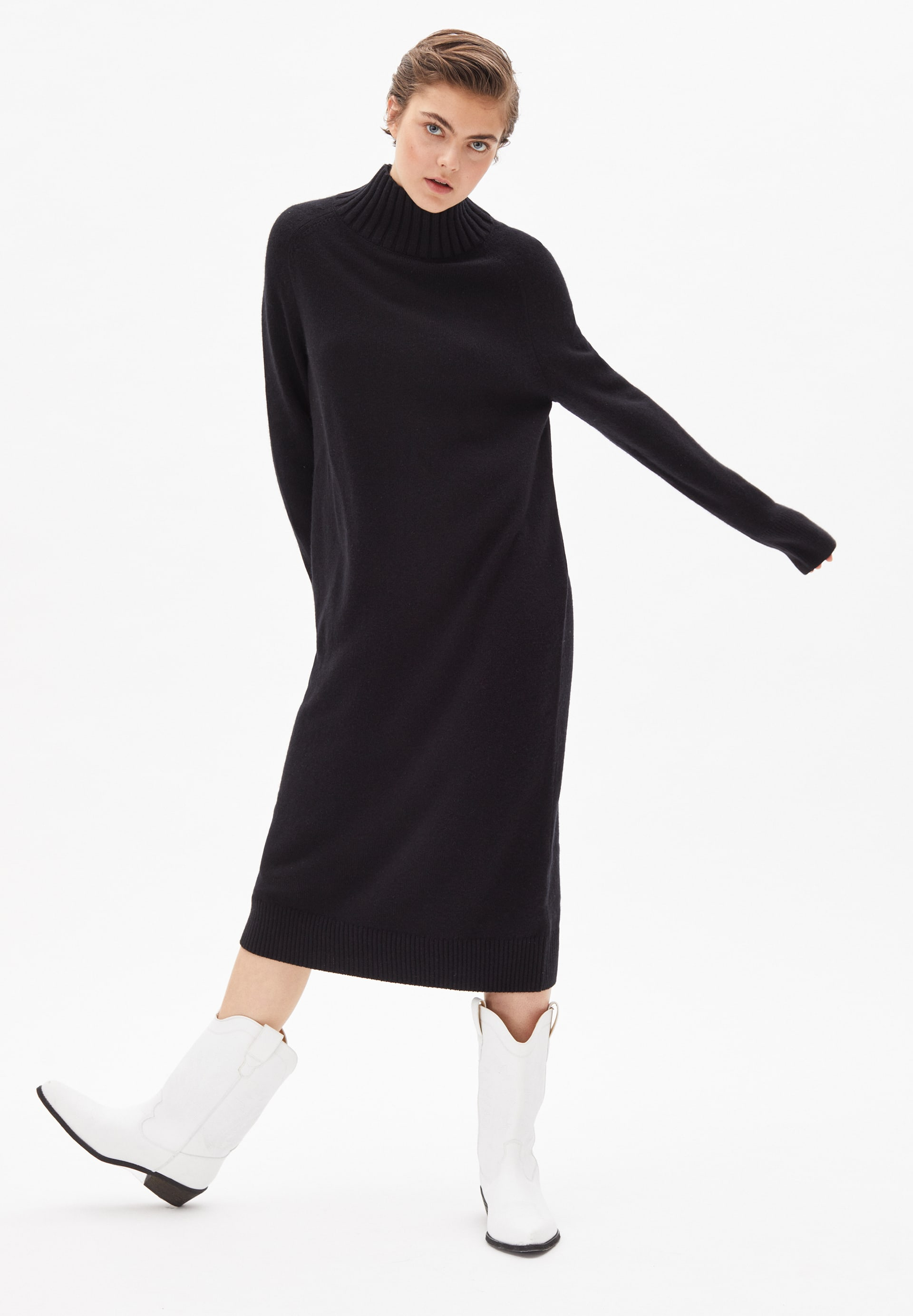 KERAA Knit Dress made of Organic Wool Mix