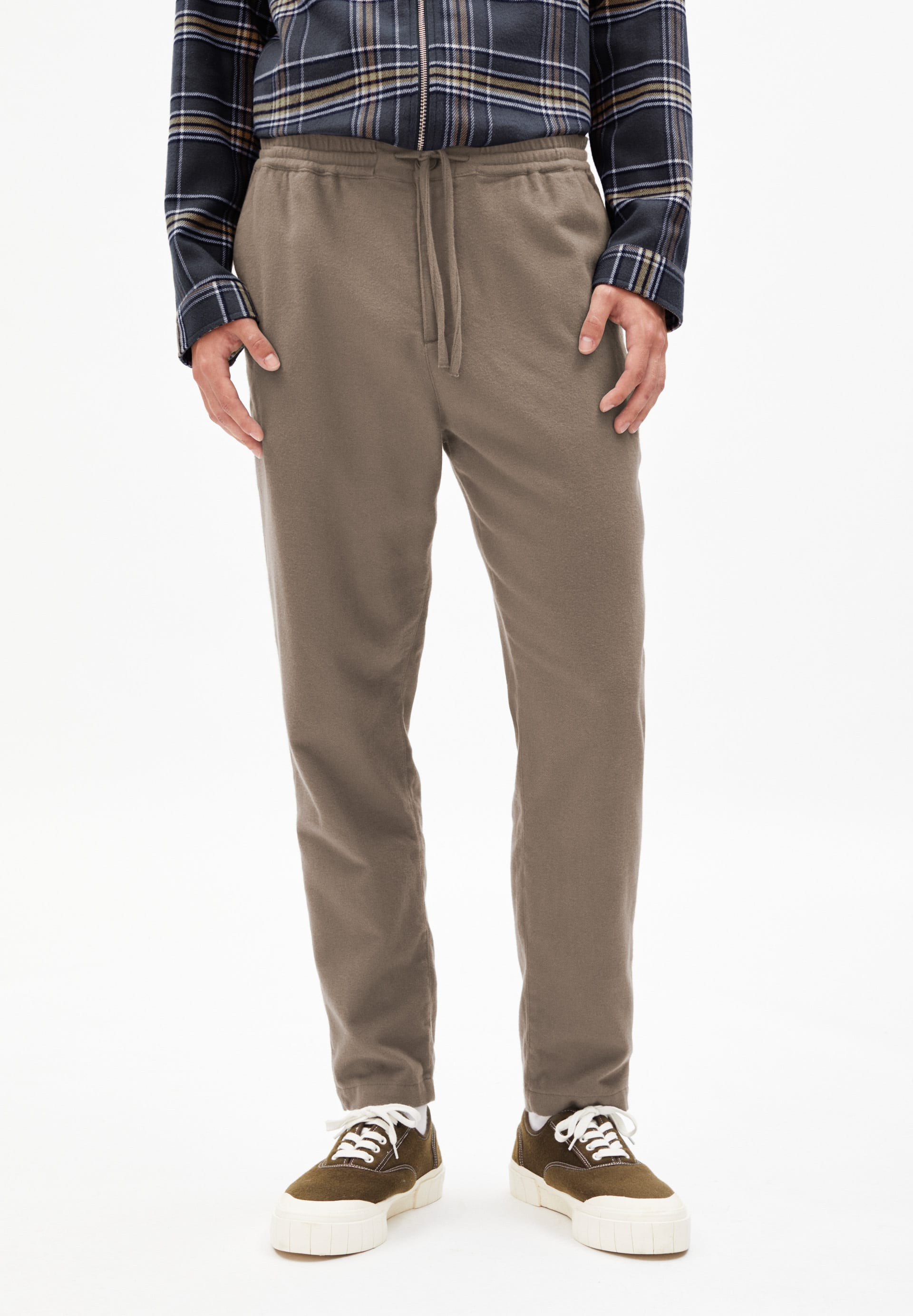 LUCAAS FLANNEL Pants made of organic cotton