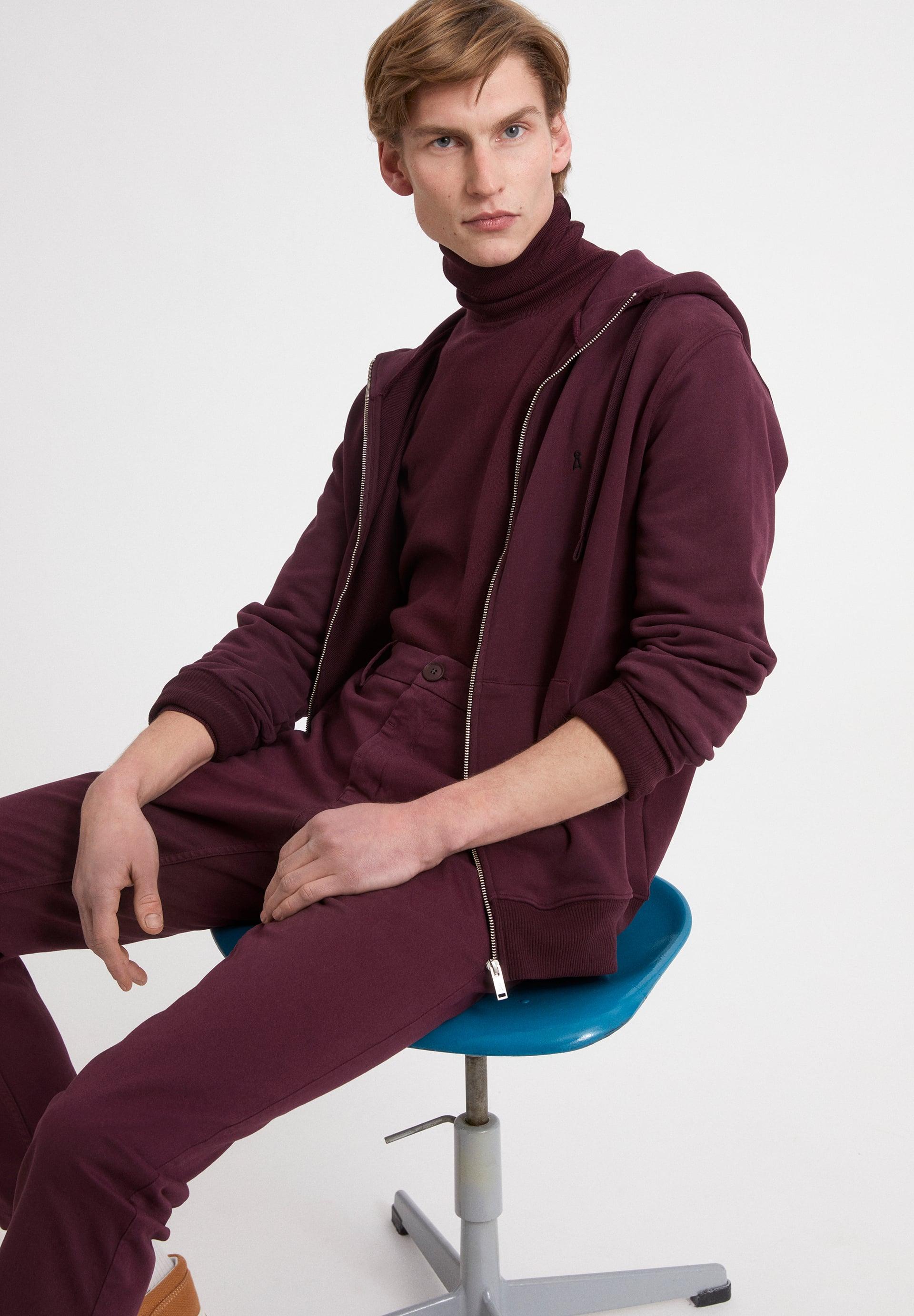 GAASTON COMFORT Sweatshirt à capuche à fermeture éclaire en coton bio